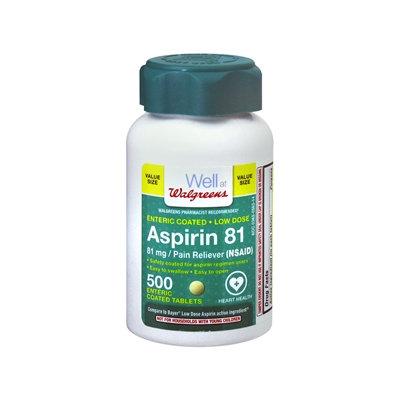 Walgreens Aspirin Low Dose 81 mg Tablets