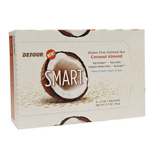 Detour SMART Bars, Coconut Almond, 9 pk, 1.3 oz