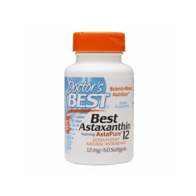 Doctor's Best Astaxanthin 12mg, Softgels, 60 ea