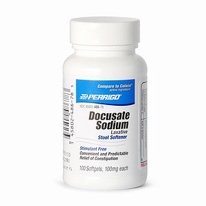 Perrigo Laxative Stool Softener, Docusate Sodium 100mg Softgels