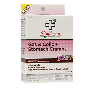 Similasan Gas & Colic + Stomach Cramps Quick Dissolving Tablets, 135 ea