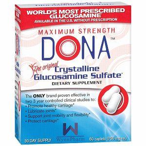 Dona Maximum Strength Crystalline Glucosamine Sulfate Caplets