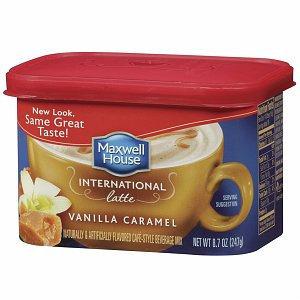Maxwell House International Cafe Style Beverage Mix, Vanilla Caramel Latte, 8.7 oz