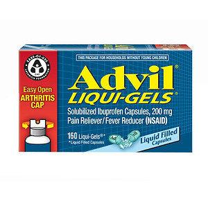 Advil Liqui-Gels 200mg Liquid Filled Capsules, 160 ea