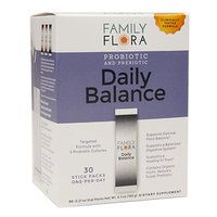 Family Flora Daily Balance Probiotic & Prebiotic, 30 pk, .21 oz