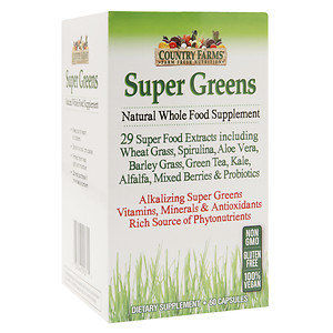 Country Farms Super Greens, 60 ea