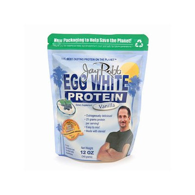 Jay Robb Enterprises Egg White Vanilla 12oz - 12 Ounces Powder - Egg Protein