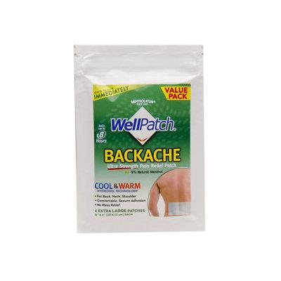 WellPatch Backache Multi-Count Patch, 4 ea