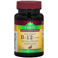 Finest Nutrition B12 5000mcg, Quick Dissolve Tablets Cherry