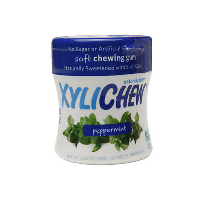 Xylichew Soft Chewing Gum Sweetened with Birch Xylitol Canister Packs, Peppermint