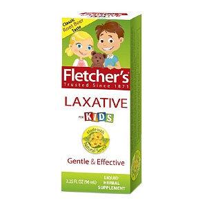 Fletcher's Laxative For Kids Liquid Herbal Supplement, Classic Root Beer Taste, 3.25 fl oz
