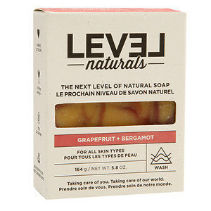 Level Naturals Soap Bar, Grapefruit + Bergamot, 5.8 oz