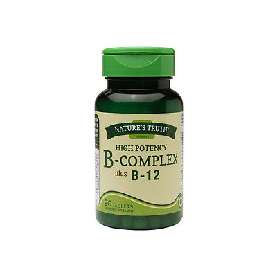 Nature's Truth High Potency B-Complex Plus B-12, 90 ea
