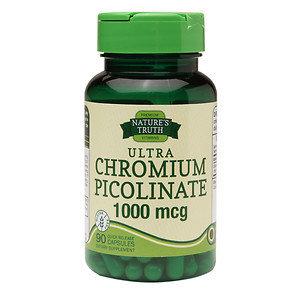 Nature's Truth Ultra Chromium Picolinate 1000mcg, Capsules, 90 ea