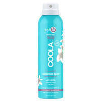 COOLA Sport Continuous Spray SPF 30, Unscented, Eco-lux, 8 oz