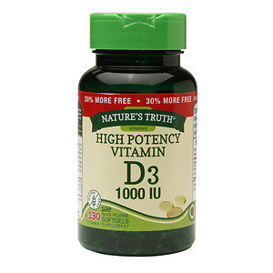 Nature's Truth High Potency Vitamin D3 1000 IU, 130 ea
