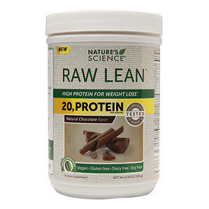 Nature's Science RAW Lean High Protein for Weight Loss, Chocolate, 10.58 oz