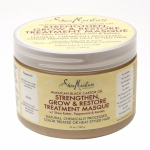 SheaMoisture Strengthen, Grow & Restore Treatment Masque, Jamaican Black Castor Oil, 12 oz