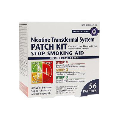 Habitrol Nicotine Transdermal System Stop Smoking Aid Patch Kit, Steps 1,2,3, 56 ea