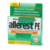 Allerest Allergy & Sinus Relievers Allerest Pe Allergy And Sinus Relief Tablets - 18 Ea