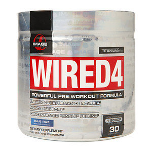 Image Sports - Wired4 Powerful Pre-Workout Formula Blue Raz - 6.35 oz.