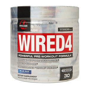 Image Sports - Wired4 Powerful Pre-Workout Formula Blue Raz - 6.35 oz.