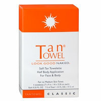 Tan Towel Half Body Classic 5pk