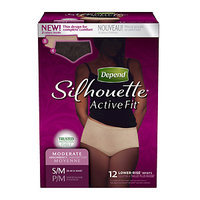 Depend Silhouette Active Fit Lower-Rise Briefs