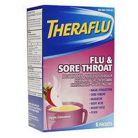 TheraFlu Flu & Sore Throat Powder, Apple Cinnamon, 6 ea