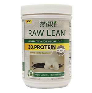 Nature's Science RAW Lean High Protein for Weight Loss, Vanilla, 10.58 oz