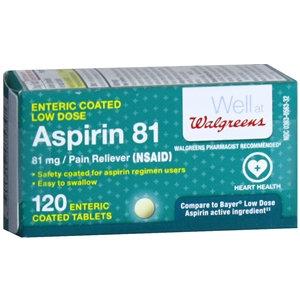 Walgreens Enteric Coated Aspirin Low Dose Tablets, 120 ea