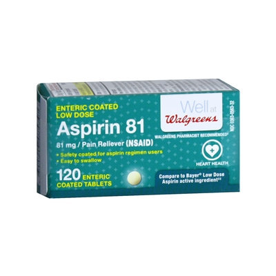 Walgreens Enteric Coated Aspirin Low Dose Tablets, 120 ea