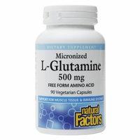 Natural Factors L-Glutamine 500 mg - 90 Vegetarian Capsules