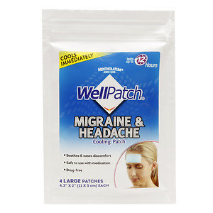 WellPatch Migraine & Headache Cooling Patch, 4 ea