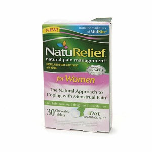 New NatuRelief FOR WOMEN CHEWABLE TABLETS 30 CT
