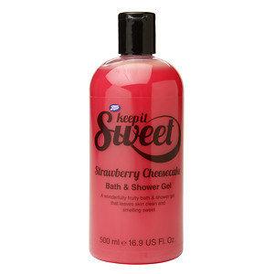 Boots Keep it Sweet Bath & Shower Gel Strawberry Cheesecake