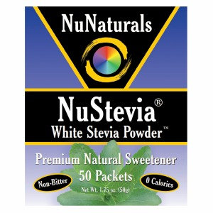 NuNaturals - NuStevia White Stevia Powder - 50 Packets