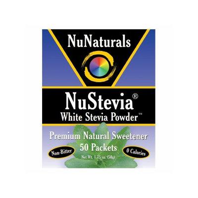NuNaturals - NuStevia White Stevia Powder - 50 Packets