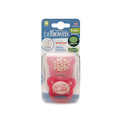 Dr Brown's Dr. Brown's 0-6 Months Glow in the Dark Pacifier - Boy