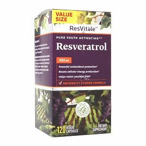 ResVitale Resveratrol 250mg, Veggie Capsules, 120 ea