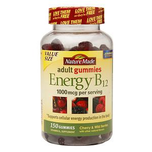 Nature Made Energy B12 Cherry & Wild Berries 1000 mcg - 150 Gummies
