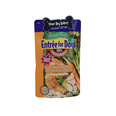 Three Dog Bakery Entree For Dogs Chicken, Carrots, Greenbeans & Rice