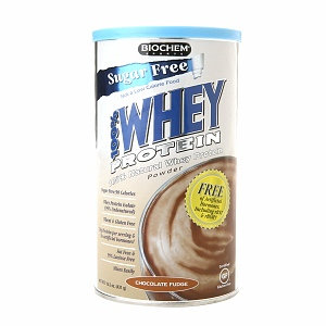 Biochem 100% Natural Whey Protein, Sugar Free, Chocolate Fudge, 15.2 oz