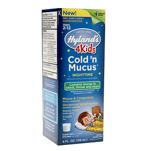 Hylands Hyland's 4Kids Cold 'n Mucus Nighttime, 4 oz