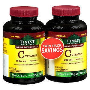 Finest Natural Vitamin C 1000 mg, 2 pk, 200 ea