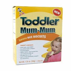 Mum Mum Toddler Mum-Mum Rice Biscuits, Banana, 1.76 oz