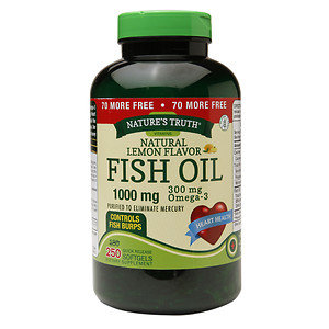 Nature's Truth Fish Oil 1000mg, Lemon, 250 ea