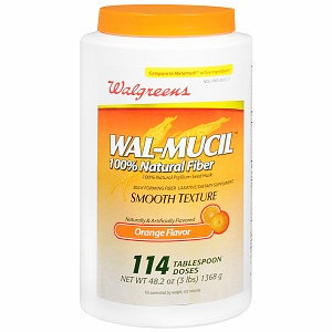Walgreens Wal-Mucil 100% Natural Fiber Laxative/Dietary Supplement