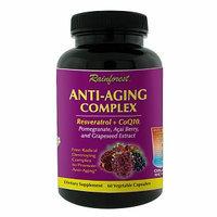 Rainforest - Anti-Aging Complex Resveratrol CoQ10 - 60 Vegetarian Capsules