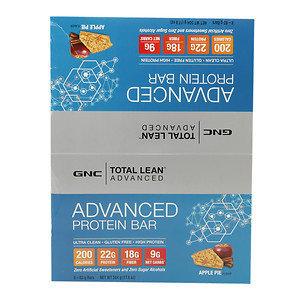 GNC Total Lean Advanced Protein Bar 22g, Apple Pie, 8 ea